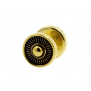 Brass Fake Plugs - Stripes