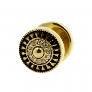Brass Fake Plugs With Zirconia