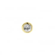 Gold Zirconia Threaded Ball