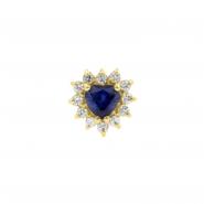 Gold Swarovski Zirconia And Topaz Heart