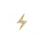 Gold Swarovski Zirconia Flash - Left