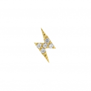 Gold Swarovski Zirconia Flash - Right