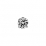 White Gold Swarovski Zirconia Attachment Round