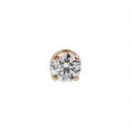 Rose Gold Swarovski Zirconia Attachment Round