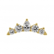 Gold Swarovski Zirconia Royal Curve