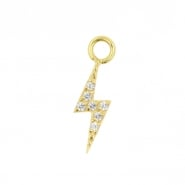 Gold Click Ring Charm - Zirconia Flash