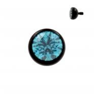 Titanium Ball With Swarovski Zirconia
