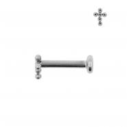 Titanium Cross Cluster Labret