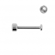 Titanium Labret With 3mm Jewelled Disc