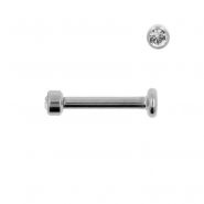 Titanium Labret With 2,5mm Jewelled Disc