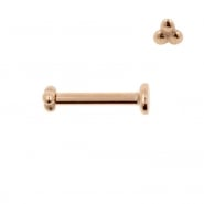 Internally Threaded Labret Stud - Triple Dots 2,5 mm