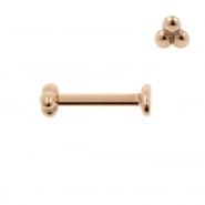 Internally Threaded Labret Stud - Triple Dots 3 mm