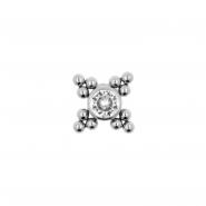 Titanium Swarovski Cluster - Threadless