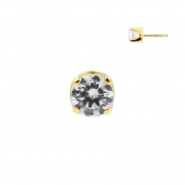 Gold Swarovski Zirconia Attachment - Threadless