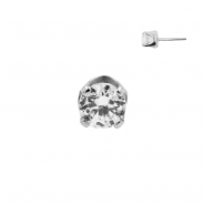 White Gold Swarovski Zirconia Attachment - Threadless