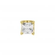 Gold Zirconia Square - Threadless