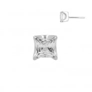 White Gold Zirconia Square - Threadless