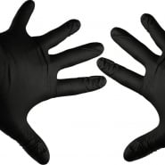 Black Gloves - 8 Pieces