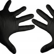 Black Gloves - 8 Pieces