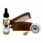 Beard Care Kit Oil, Balm & Comb - Smokey Bastard