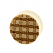 Circle Pattern Plugs - Crocodile Wood