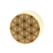 Flower of Life Plugs - Crocodile Wood