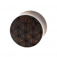 Flower of Life Plugs - Sono Wood