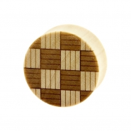 Weaved Squares Plugs  - Crocodile Wood